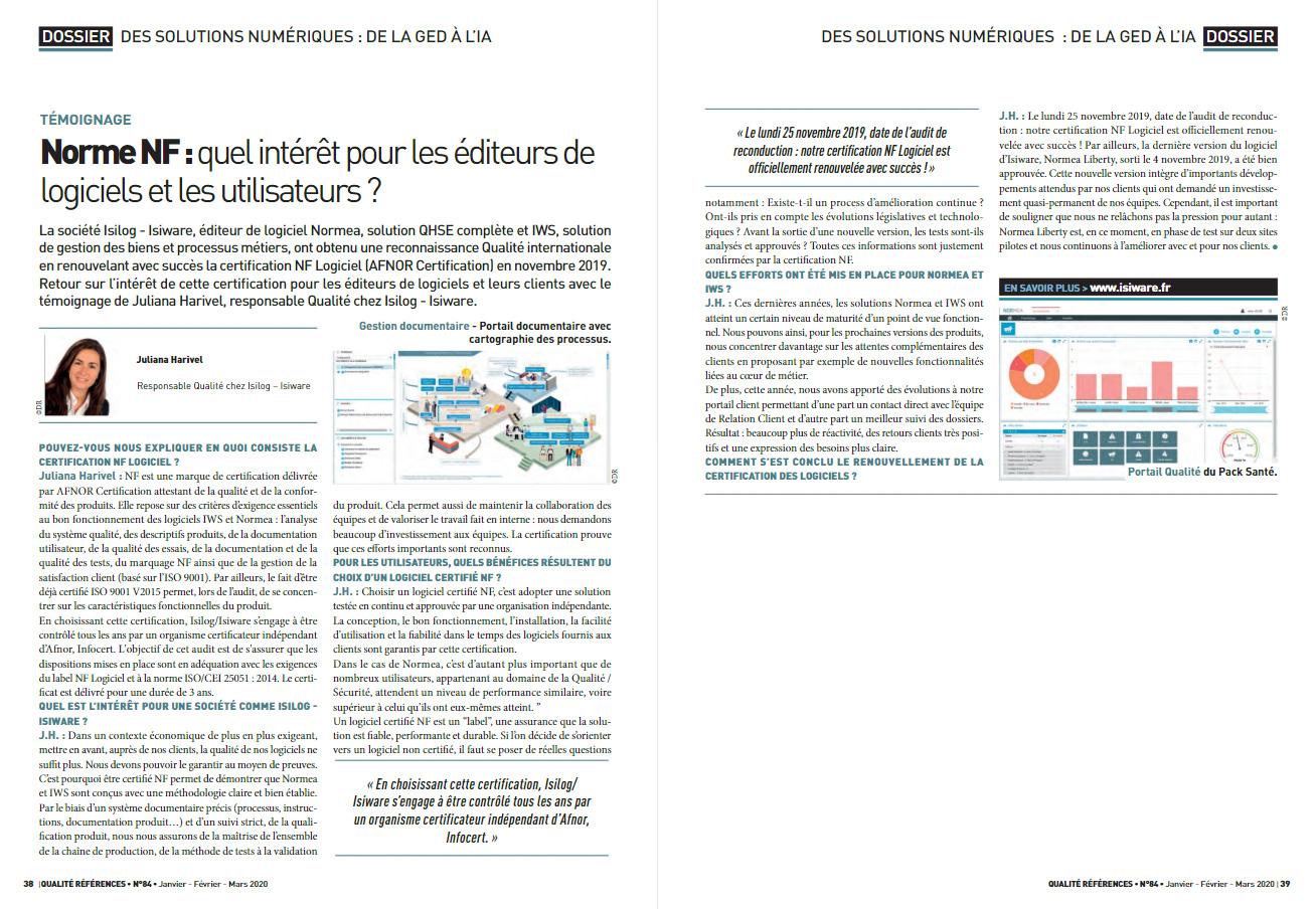 Témoignage responsable qualité sur la certification NF Logiciel
